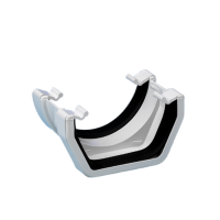 White Square/Round Gutter Adaptor