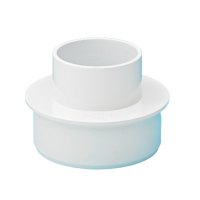 White Round to Soil Adaptor