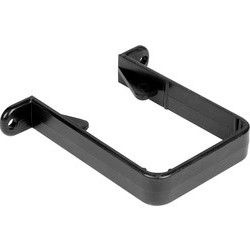 Black Square Line Down Pipe Clip