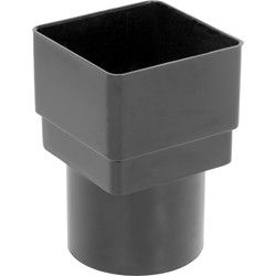 Black Square/Round Down Pipe Adaptor