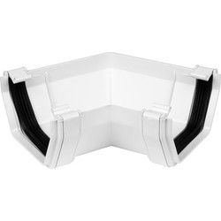 White Square Line 120 Gutter Angle