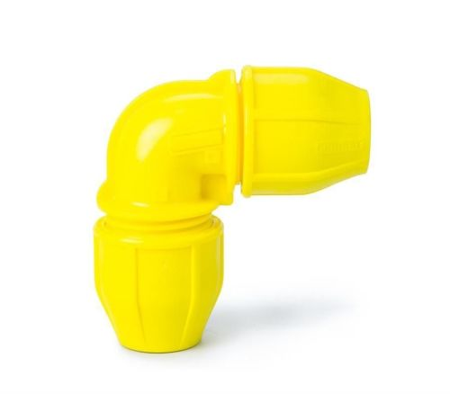 Yellow 25mm Gas Elbow
