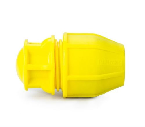 Yellow 25mm Gas Stop End