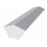 9mm Flat General Purpose Fascia Board External Corner 300mm 135