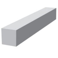 16mm Square Fascia Corner 600mm 90