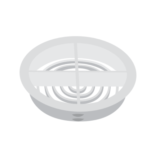 Hollow Soffit Circular Vent 350mm