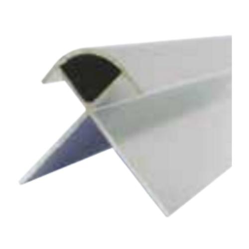 Silver Decorative Cladding External Corner 8mm x 2.6m