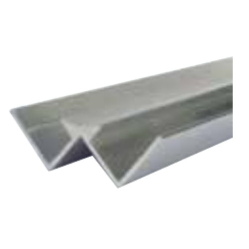Silver Decorative Cladding Internal Corner 10mm x 2.6m