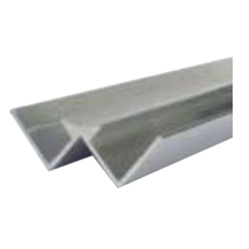 Silver Decorative Cladding Internal Corner 5mm x 2.6m