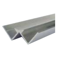 8mm x 2.4m Decorative Cladding Internal Corner Silver