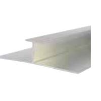 10mm x 2.4m Decorative Cladding H Section Joiner White