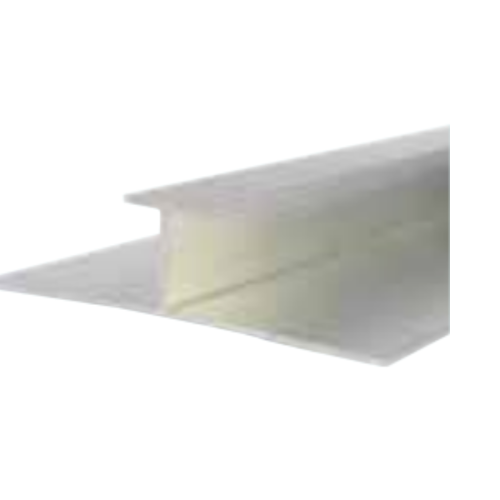 White Decorative Cladding H Section Joiner 5mm x 2.6m