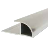 10mm x 2.4m Decorative Cladding Quadrant Edge Trim White