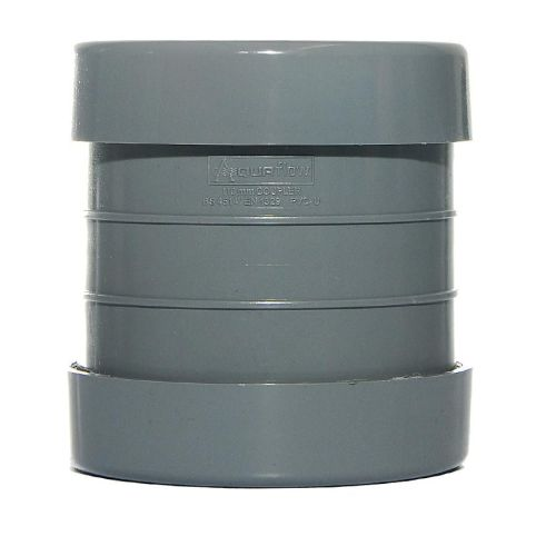 160mm Double Socket Coupling Pushfit Grey