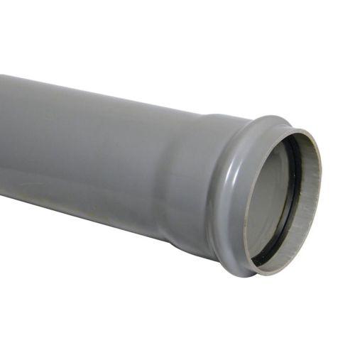 160mm Single Socket Pipe 3m Pushfit Grey