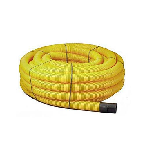 Twinwall Duct Coils 63mm x 50m Yellow