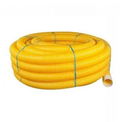 Twinwall Duct Coils (Perforated) 60mm x 50m Yellow