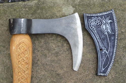 VIKING AXE CARVED HEAD