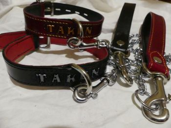 RED AND BLACK MATCHING COLLARS