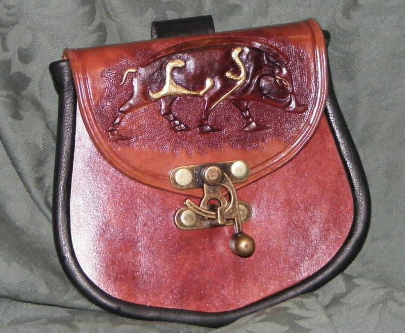 traditonal belt pouch /boar