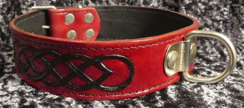 RED AND BLACK TOOLED COLLAR