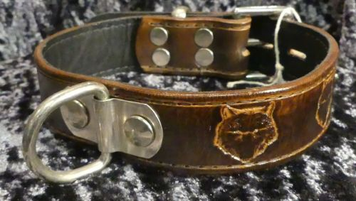 BROWN STAMPED COLLAR