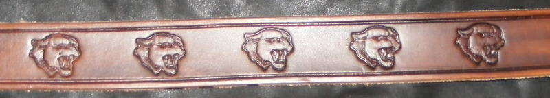 STAMPED BIG CAT BELT