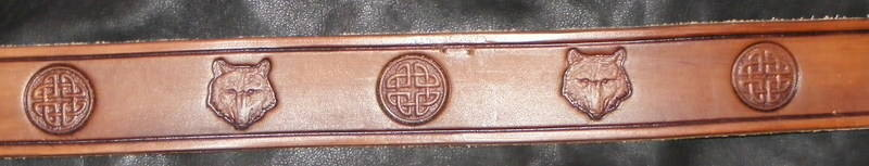 STAMPED CELTIC WOLF BELT