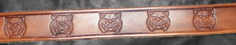 STAMPED WILD CAT BELT
