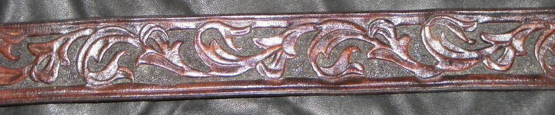 TOOLED FLORAL BELT