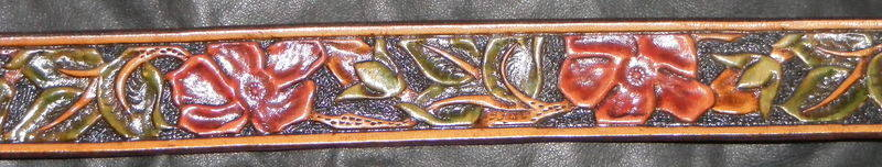 TOOLED DOG ROSE BELT
