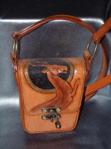 LEATHER BAG . STAG