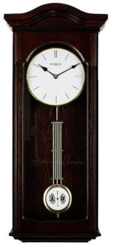 Real Wood Regulator Style Pendulum Quartz Wall Clock by Wm Widdop