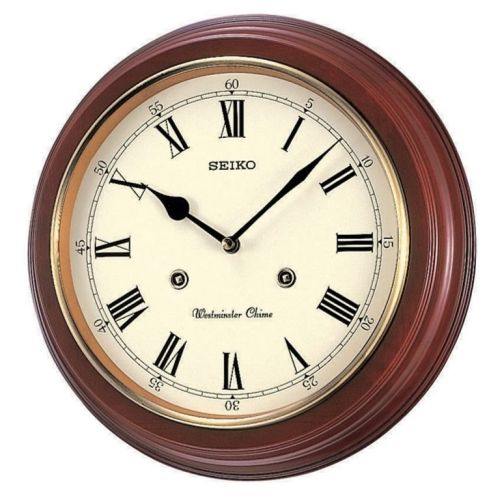 Seiko Wooden Westminster Chime Wall Clock