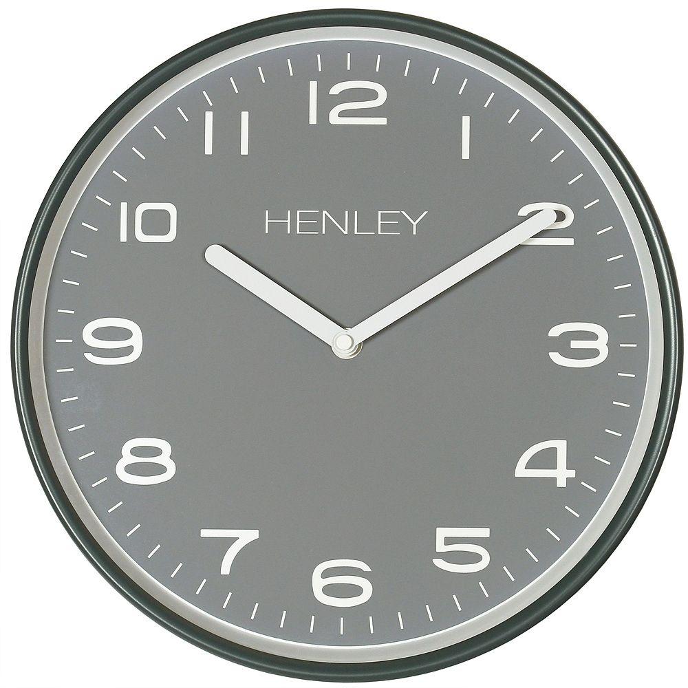Henley Grey Metal Wall Clock