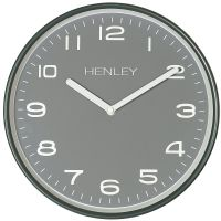 Henley Grey Metal Wall Clock