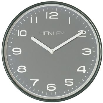 "Henley Grey Metal 12"" Wall Clock"