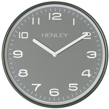 henley grey wall clock