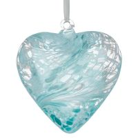 12cm Pastel Blue Friendship Heart
