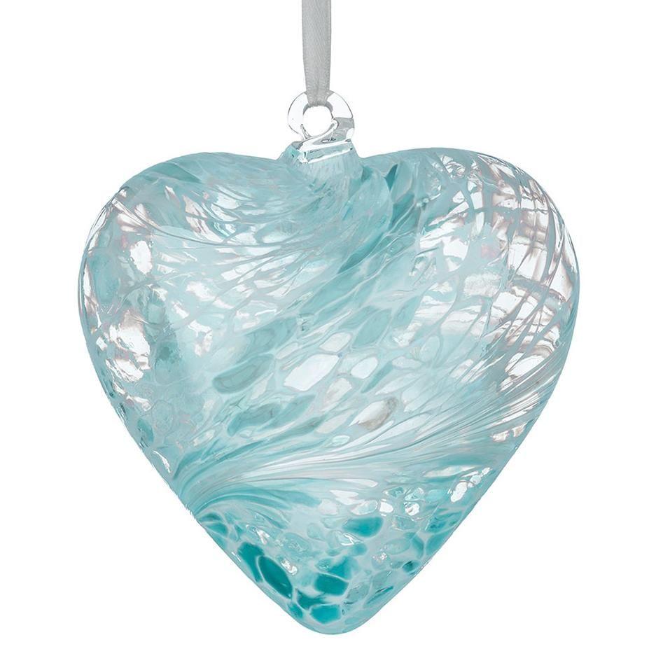 12cm Pastel Blue Friendship Heart
