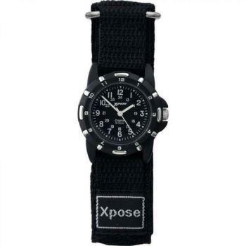 Sekonda Xpose Unisex Velcro Strap Black Boys Wrist Watch