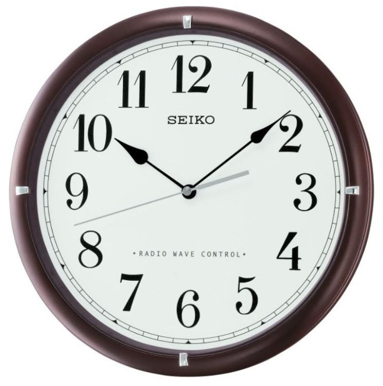 Seiko Radio Controlled Wooden Wall Clock