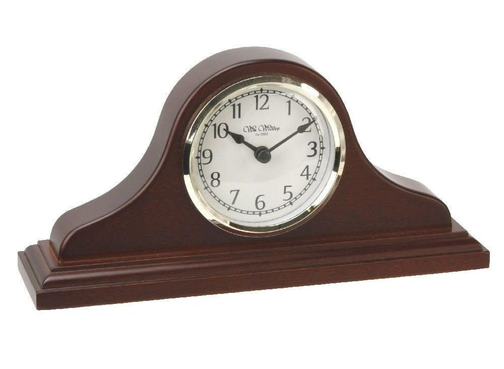 Small Wooden Napoleon Mantel Clock By Wm Widdop