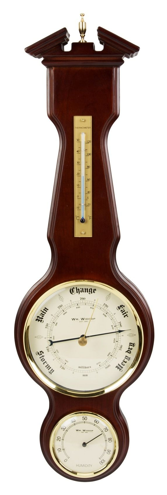 Large Banjo Barometer by Wm Widdop