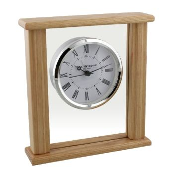 Wooden Floating Dial Pillar Clock