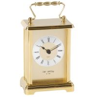 Gilt Metal Carriage Clock With Handle By Wm Widdop