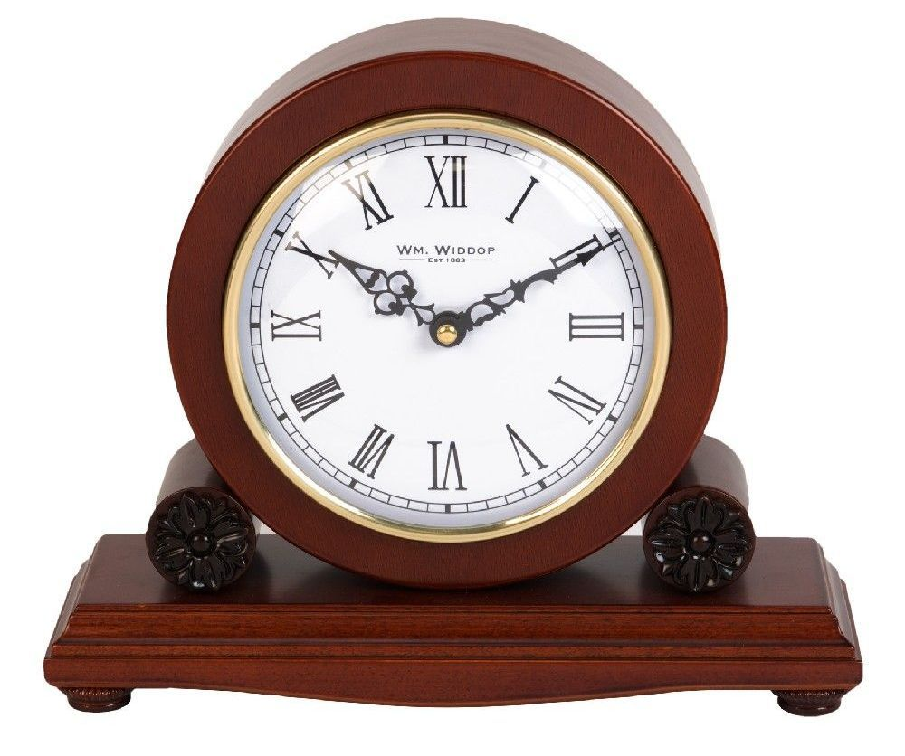 Mahogany Barrel Mantel Clock By Wm Widdop