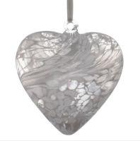 12cm White Friendship Heart