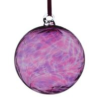 8cm Pink & Purple Glass Friendship Ball