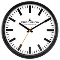 Radio Controlled Precision Black Wall Clock